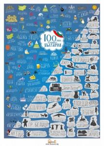 скреч постер 100 неща за правене в България
