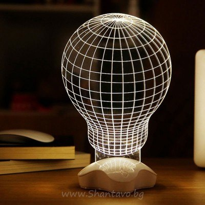 3D нощна лампа във формата на въздушен балон