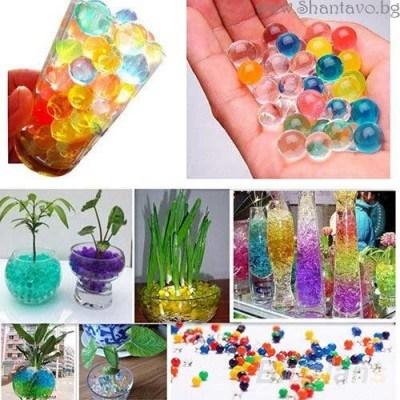 Водни топчета за декорация на чаши и вази