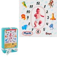 Платно за бебешки снимки за всеки навършен ден или месец - в метална кутийка за подарък