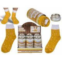 Мъжки бирени чорапи в метално кенче