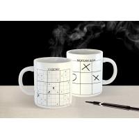 Чаша за кафе с морски шах и судоку