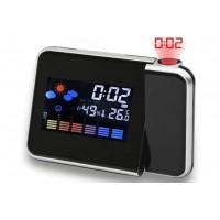 Настолен часовник с будилник, проектор, влагомер и термометър