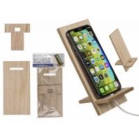 Дървена поставка за телефон и таблет