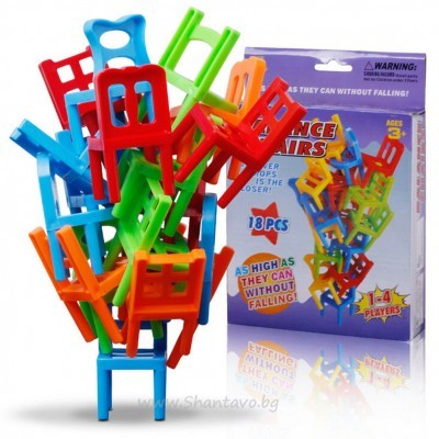 "Детска игра ""Направи кула от столчета"""
