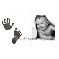 Глинен комплект за бебешки отпечатъци - краче и ръчичка