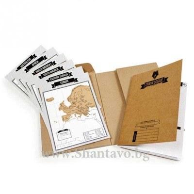 Дневник на пътешественика със скреч карта на света