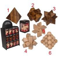 Дървени логически пъзели - различни варианти