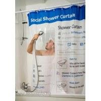 Завеса за баня във формата на Facebook профил
