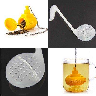 Нестандартни филтри за чай (жълта подводница или музикална нота)