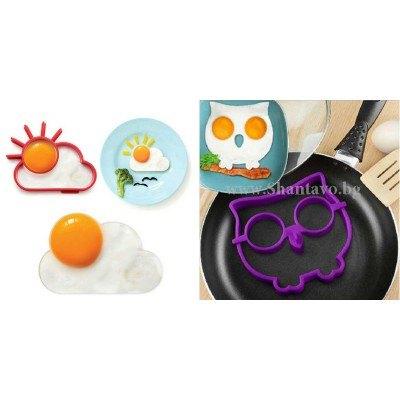 Направете яйца във формата на бухалче или слънце с облак