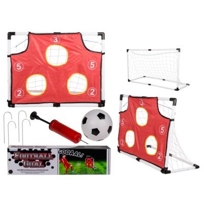Футболна врата с 5 мишени, мрежа и топка
