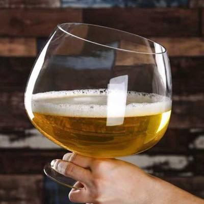 Гигантска стъклена чаша за вино или бира - 3 литра