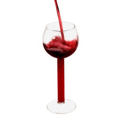 Стъклена чаша за вино с празно столче - 750 мл