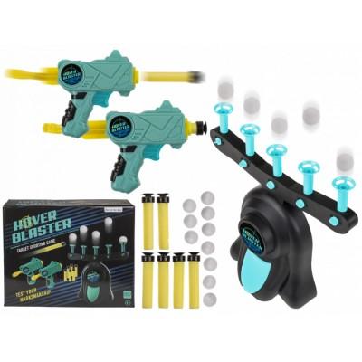 Семейна игра с пистолети и движещи се топчета мишени HOVER BLASTER