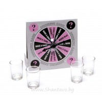 Алкохолна игра с 4 шота и въртележка