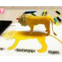 Животните оживяват с интерактивни карти за оцветяване - 10 бр