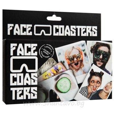 Картонени парти маски за лице с хора и животни