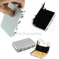 Стилен визитник - алуминиево куфарче с дръжка