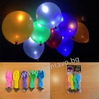 Светещи лед балони за незабравим празник с надпис I Love you - 5 бр.