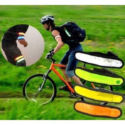 Светеща и светлоотразителна лента за колоездачи