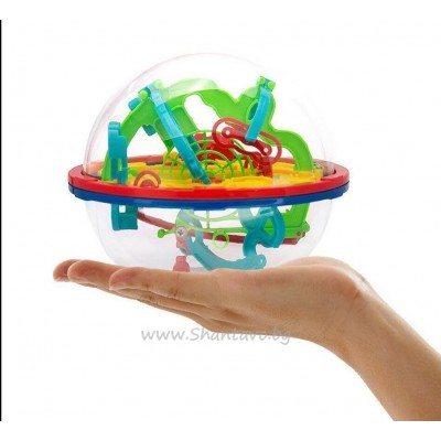Логическа 3D топка лабиринт със 100 нива