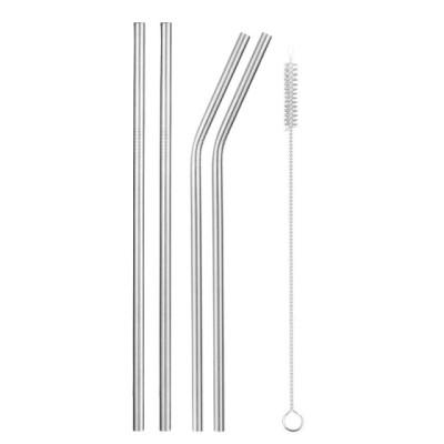 Комплект 8 метални сламки за многократна употреба с четка