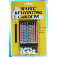Негаснещи магически свещи за забавен рожден ден - 10 бр