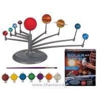 """Образователна игра """"Слънчевата система"""" за сглобяване и оцветяване"""