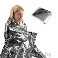 Термо одеяло за оцеляване с джобен размер