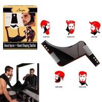 Предпазна престилка при оформяне на брада с лепки за огледало