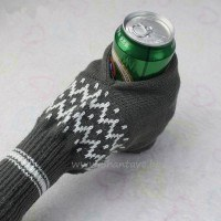 Топла ръкавица с поставка за кенче или бутилка