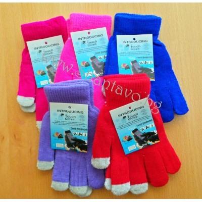 Тъч скрийн ръкавици за смартфон или таблет - 2 цвята