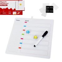 Седмичен планер за дома или офиса с два магнита и маркер