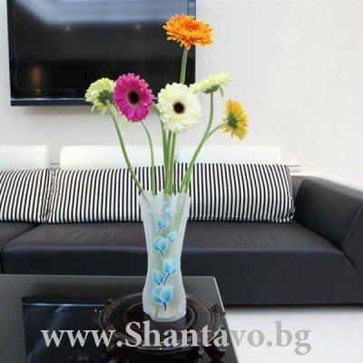 Лесно преносима, сгъваема ваза за многократна употреба