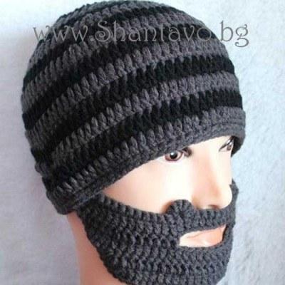 Бъдете различни със зимна плетена шапка с брада