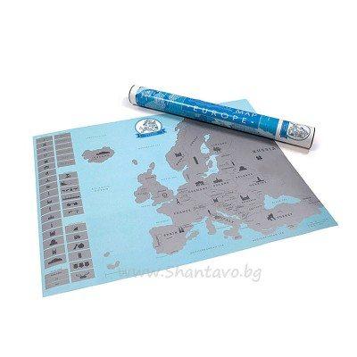 Скреч карта на Европа