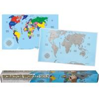 Скреч карта на света за истински пътешественици