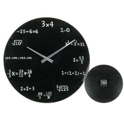 """Стенен часовник """"Реши уравнението"""" за математици"""