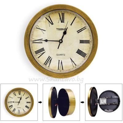 Стенен часовник сейф (safe) за скриване на ценности