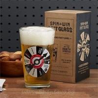 Стъклена чаша с алкохолна въртележка