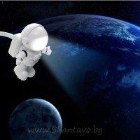 Компактна лампа космонавт с usb и led светлина