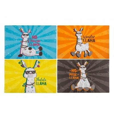 """Забавни цветни подложки за маса """"ЛАМА"""" - 4 варианта"""